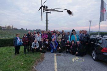 Člani Društva upokojencev Bilje smo obiskali deželo šipona, laškega in renskega rizlinga