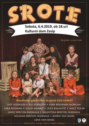 Srote so se uvrstile na regijsko srečanje otroških gledaliških skupin