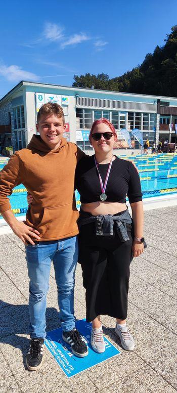 Tina Dolinar do srebra na državnem tekmovanju v plavanju za srednje šole