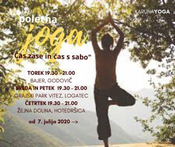 """Poletna joga v naravi: """"Čas zase in čas s sabo"""" (Logatec, Hotedršica, Godovič)"""