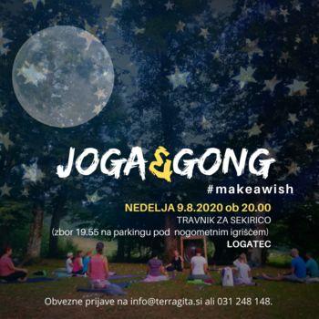 Joga & Gong večer pod zvezdami: Zaželi si