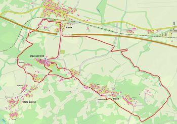 Po obnovljenih poljskih poteh okoli Vipavskega Križa