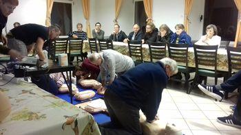 Odprtje defibrilatorja na Erzelju