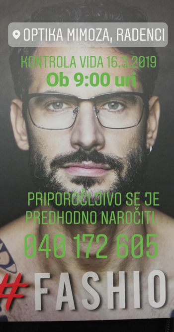 KONTROLA VIDA, OPTIKA MIMOZA, SARA TOPLAK S. P., RADENCI