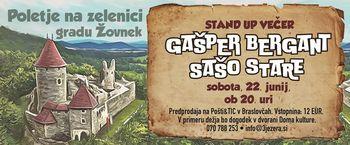 Stand up večer - GAŠPER BERGANT & SAŠO STARE