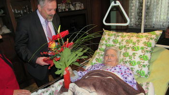 90. letnica Ivane Kaplan iz Mačkovca