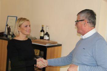 Župan Čebela sprejel žensko leta