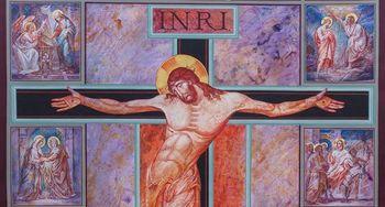 Postni prt v baziliki Marije Pomagaj