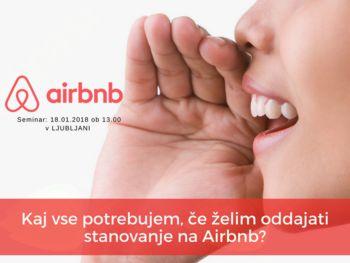 Vabilo na seminar Airbnb poslovanje