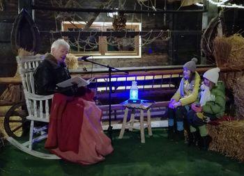 Božična zgodba z živimi jaslicami na Frati