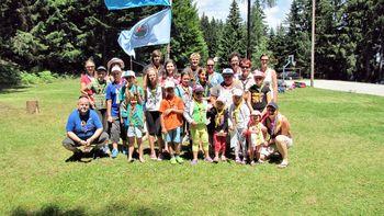 Indijansko taborjenje tabornikov z Mute