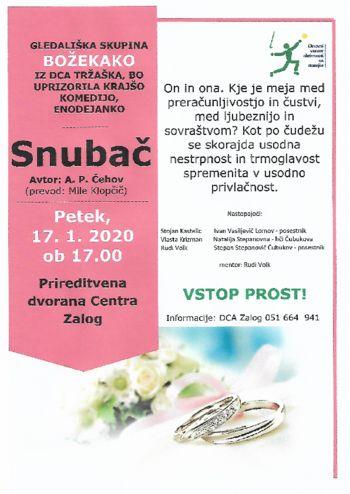Dramska amaterska skupina BOŽEKAKO bo uprizorila enodejanko A. P. Čehova SNUBAČ
