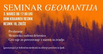 Seminar Geomantija pod Roglo
