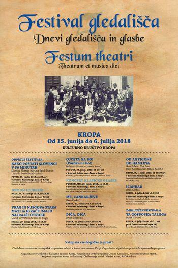 V. FESTIVAL GLEDALIŠČA - KROPA - FESTUM THEATRI