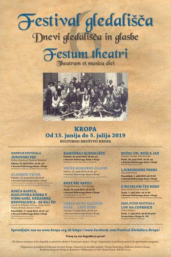 VI. FESTIVAL GLEDALIŠČA - KROPA - FESTUM THEATRI
