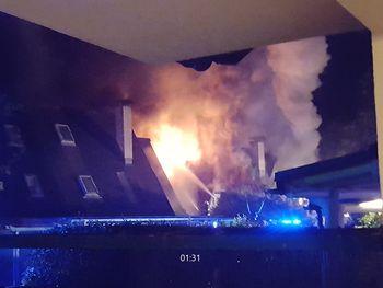 Požar na stanovanjskem objektu v Dragomerju