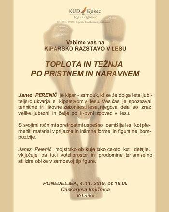 Otvoritev kiparske razstave v lesu Janeza Pereniča