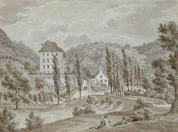 Grad Haasberg v Planini pri Rakeku in njegova veduta
