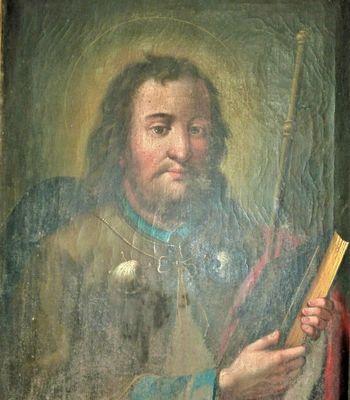 Slika poznobaročnega slikarja Andreja Herrleina v Hotedršici