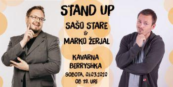 STAND UP večer s Sašom STARETOM in Markom ŽERJALOM