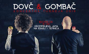 Koncert Janeza Dovča in Boštjana Gombača v butični Krompirjevi jami z lokalnimi kraškimi dobrotami