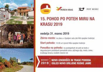 15. POHOD PO POTEH MIRU NA KRASU 2019