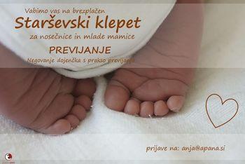 Previjanje - Negovanje dojenčka s prakso previjanja