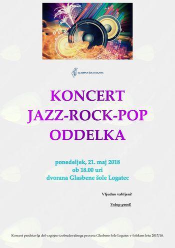 Koncert JAZZ-POP-ROCK oddelka