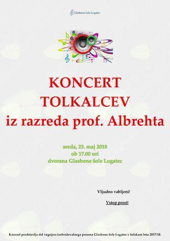 Koncert tolkalcev iz razreda prof. Albrehta