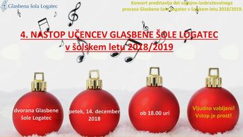4. nastop učencev Glasbene šole Logatec v š.l. 2018/2019