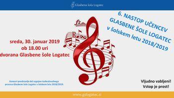 6. nastop učencev Glasbene šole Logatec v š.l. 2018/2019
