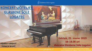 Koncert učiteljev Glasbene šole Logatec