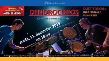 3. koncert v okviru abonmaja: DENDROCOPOS - duet tolkal, Luka Poljanec in Jan Čibej