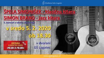 """5. koncert v okviru abonmaja """"Mladi za mlade"""": Špela Simonišek in Simon Brand"""