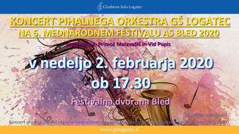 Koncert Pihalnega orkestra GŠ Logatec na 6. Mednarodnem festivalu AS Bled 2020