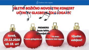 Spletni božično novoletni koncet učencev Glasbene šole Logatec