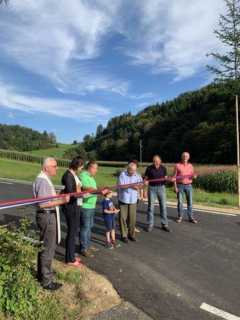 Slovesna otvoritev obnovljene ceste Pristava-Bezovica