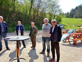 Prvomajsko srečanje pri koči Na ovinku v Grčarevcu