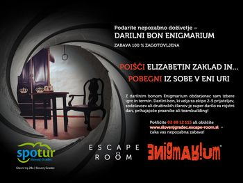 Darilni boni za Escape Room Enigmarium Slovenj Gradec
