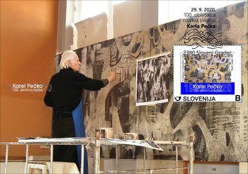 Priložnostni poštni sklop in filatelistična razstava ob 100. obletnici rojstva akademskega slikarja Karla Pečka
