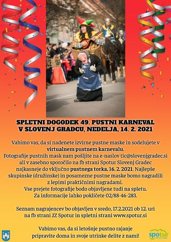 Spletni dogodek 49. Pustni karneval