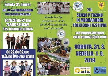 20. Trzinski sejem in 18. Mednarodni folklorni festival
