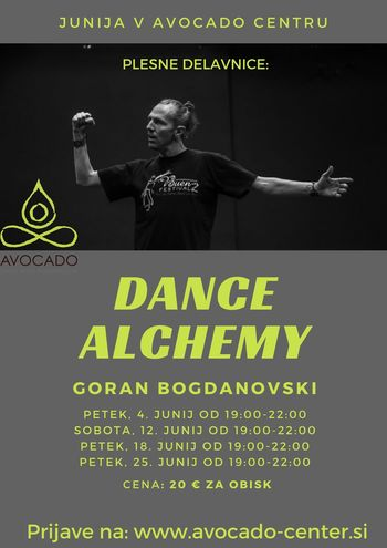 Plesna delavnica: DANCE ALCHEMY z Goranom Bogdanovskim