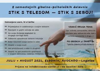 Poletne delavnice: STIK S TELESOM - STIK S SEBOJ