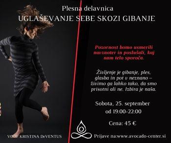 Plesna delavnica: Uglaševanje sebe skozi gibanje s Kristino de Ventus