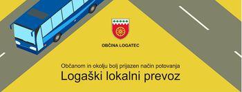 Obvestilo o izvajanju logaškega lokalnega prevoza