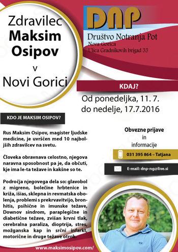 Terapija za vas: Zdravilec Maksim Osipov v Novi Gorici