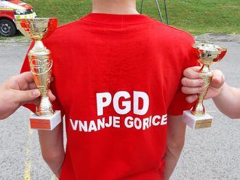 Mladina PGD Vnanje Gorice bogatejša za dva pokala