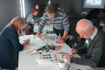 Šola slikanja ob razstavi IKONE s Petrom Ciuho
