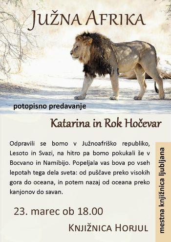 Južna Afrika – Katarina in Rok Hočevar